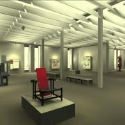 Museum simulation with progessive radiosity